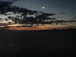 Sunset from the ship, Christmas