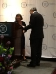 Presenting Congressman Engel with a gift