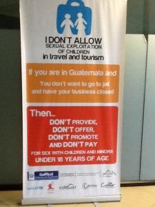 Anti-trafficking ad, Guatemala airport