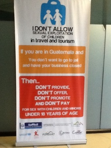 Anti-trafficking ad, Guatemala airport