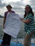 Teaching even took place on the boat en route to Hotel Atilan (AJWS staff Lilach and Adina)