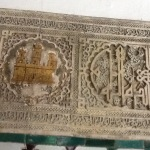 Alcazar decorations showing both Islamic and Christian imagery