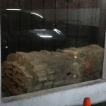 You can see the reflection of the car in the glass that encloses the sarcophagus