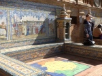 Spanish Plaza in Seville --One of my the provinces represented by a map on the ground and a tiled representation of its history.