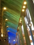 This is how the light from some of the stained glass windows lit up the ceiling. A truly awesome sight.