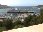 Ship view from castle, Cartagena. It's humongous!