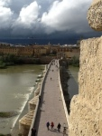 The bridge walk in Córdoba between the town and the tower (view from tower)
