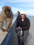 The Barbary ape and me in Gibraltar