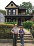 In front of MLK's childhood home with Doug, the guide