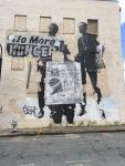 Graffiti on a wall in MLK's old neighborhood.