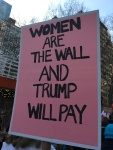Women are the wall, and Trump will pay.